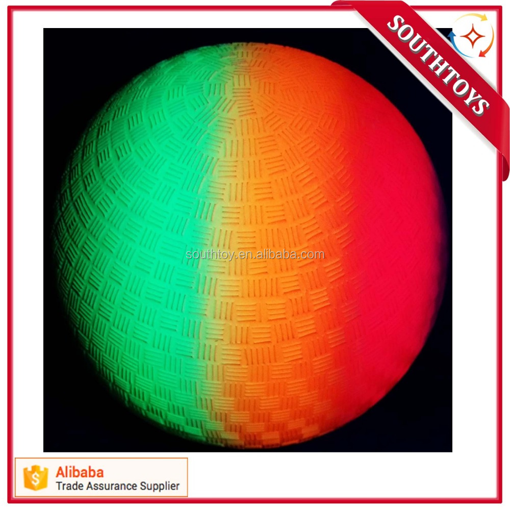 new arriva 8.5 inch Neon Rainbow Playground Ball for outdoor fun
