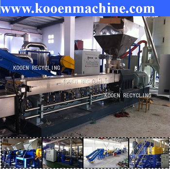 pp plastic washing and pelletizing water-ring cutting machine