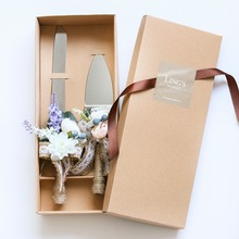 Wedding Cake Knife Serving Set Stainless Steel Gift Box Rustic Wedding Decoration