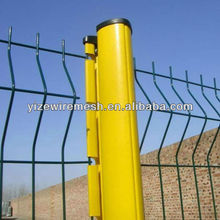 2014 hot sale strong curved steel building fence with peach post(china supplier)