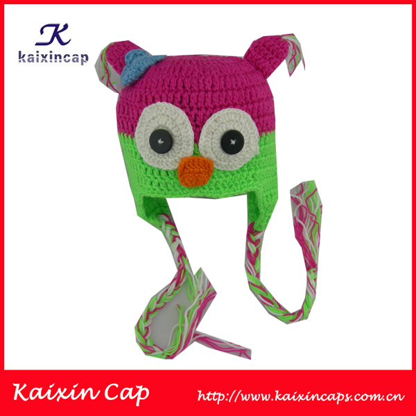 Kids Free Knitted Beanies Hat Pattern With Braid Children Beanies - Buy Free ...