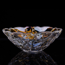 Beautiful Exquisite sprayed color glass fruit bowls, crystal glass salad bowl,food bowl