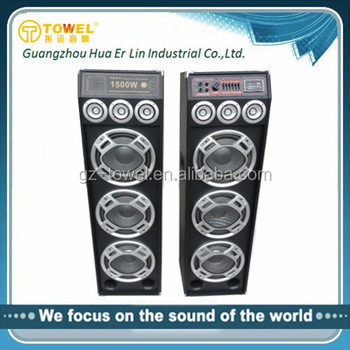 Professional 2.0 Active Stage Speaker Sound System PA Speaker With USB/SD/FM Professional DJ Sound Box