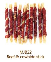 MJB22 Beef and Rawhide Stick Bulk Dog Chews Dog Treats Dog Food Factory