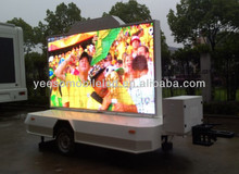 Outdoor moblie advertising LED trailer with multimedia system, audio and video players