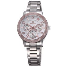 SKONE 7319 New Stainless Fashion 3 Dials With Function 2014 Branded Watch