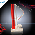 crystal national flag shape ball trophy for souvenir
