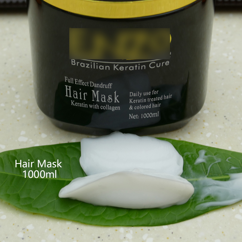 Factory wholesale OEM professional salon natural hair mask repair damaged collagen hair mask