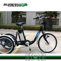 lithium battery 350w three wheels handicapped tricycle electric bicycle
