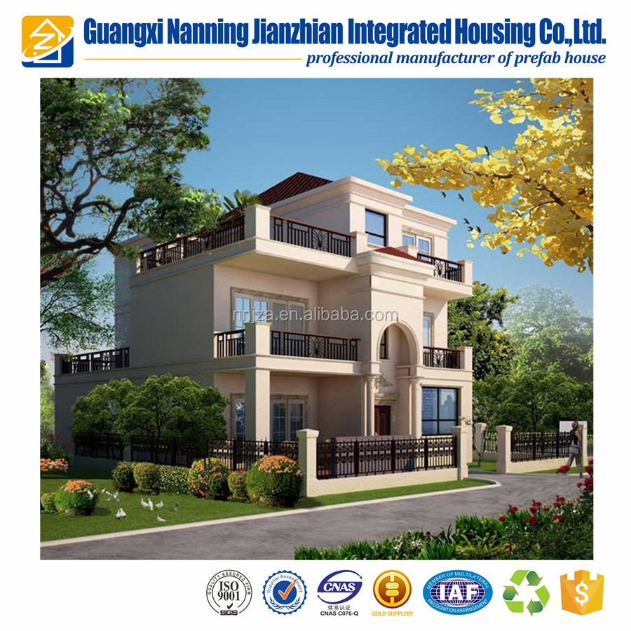 Pre-constructed garden prefab house luxury house hot sell in Jordan market