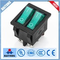 wholesale 10A/250V 6 pin double rocker switch with high quality rocker switch