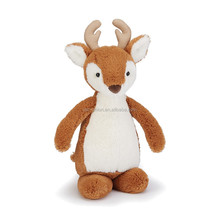 christmas plush deer toy brown 40cm sitting deer new design for kids