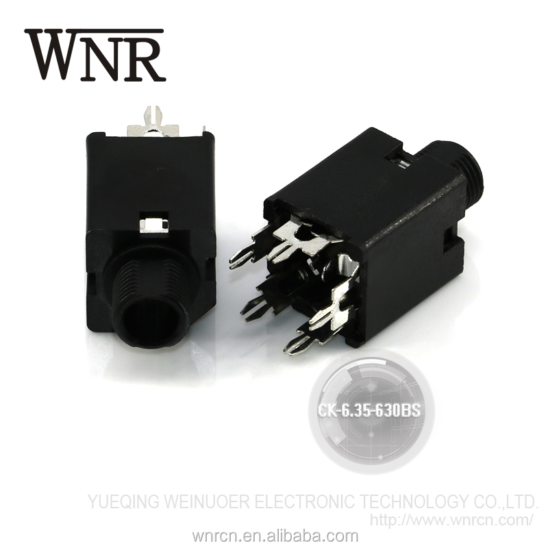 Good quality sound console amplifier headphone jack, female 6.35mm audio jack CK-6.35-630BS
