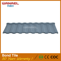Wanael 50 years warranty metal roofing no fading imported metal roof tile