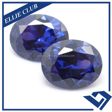 Synthetic Diamonds Blue Tanzanite Oval Cubic Zirconia