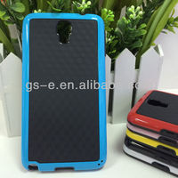 3D Three-dimensional wall double color protective pc+TPU back case For Samsung GALAXY Note 3 Neo N7505