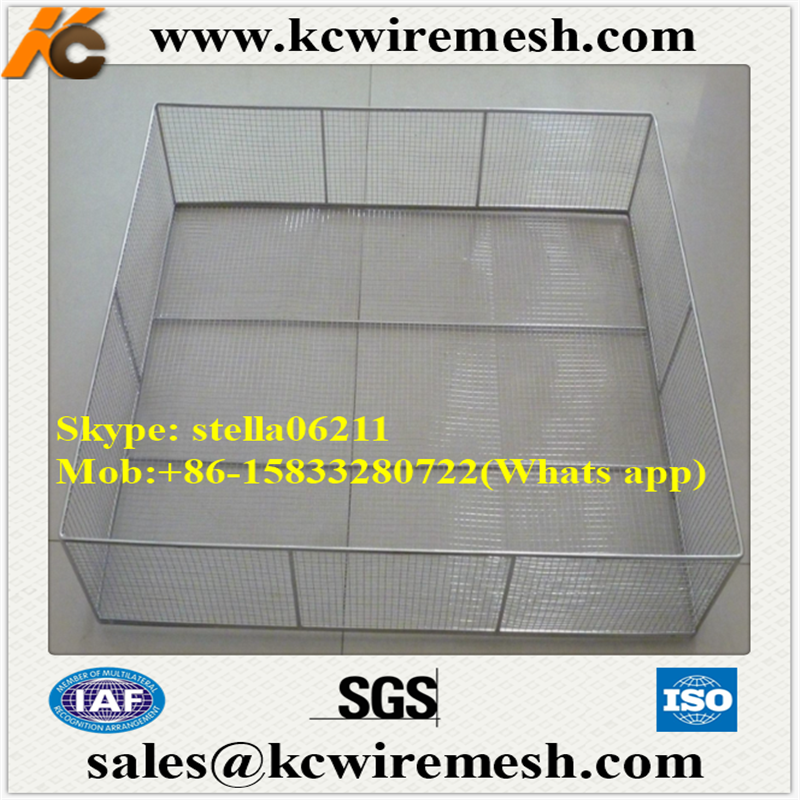Factory!!!! Cheap!!!! Stainless steel wire mesh basket Metal Storage Industrial