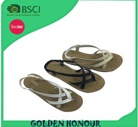 hot sale style lady sandals, good quality lady sandals, pu upper tpr sole sandals