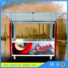 gullwing door mall kiosk fast food kiosk for sale