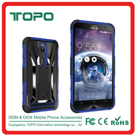 Shockproof Robot 3 in 1tpu pc silicon Phone Cover phone case Accessories Wholesale with Holster clip for ASUS zenfone2