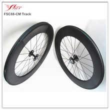 700c disc brake wheels 88mm clincher 20.5mm width with customized fixed gear hub 20 24h UD carbon matte finish