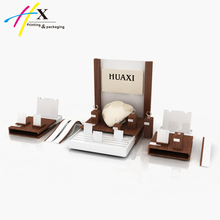 Jewelry Counter Display, Custom Wooden Jewelry Display Stand For Showcase
