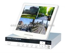"4ch all in one DVR with 10.5""LCD monitor"
