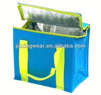 Fashion collapsible wine bottle cooler bag for shopping and promotiom