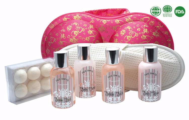 400ml Refreshing Bath Gift Set Shower Gel Bubble Bath Whitening Body Lotion with Kiwi Fragrance in Wire Basket