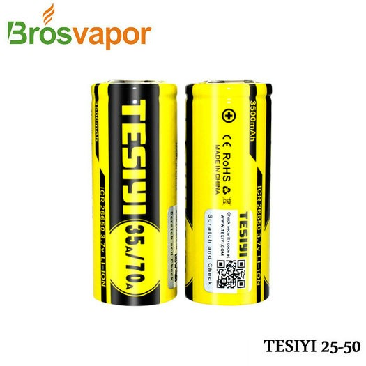 Wholesale Tesiyi battery 26650 4200mah 50A rechargeable high rate Li-ion battery