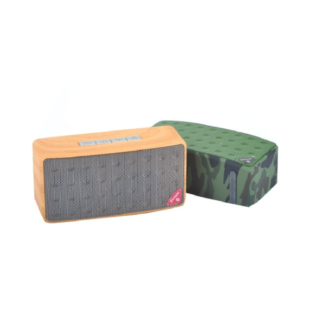 Camouflage Wooden Color Portable Wireless Bluetooth Speaker With Hands Free Talk,AUX,TF,USB