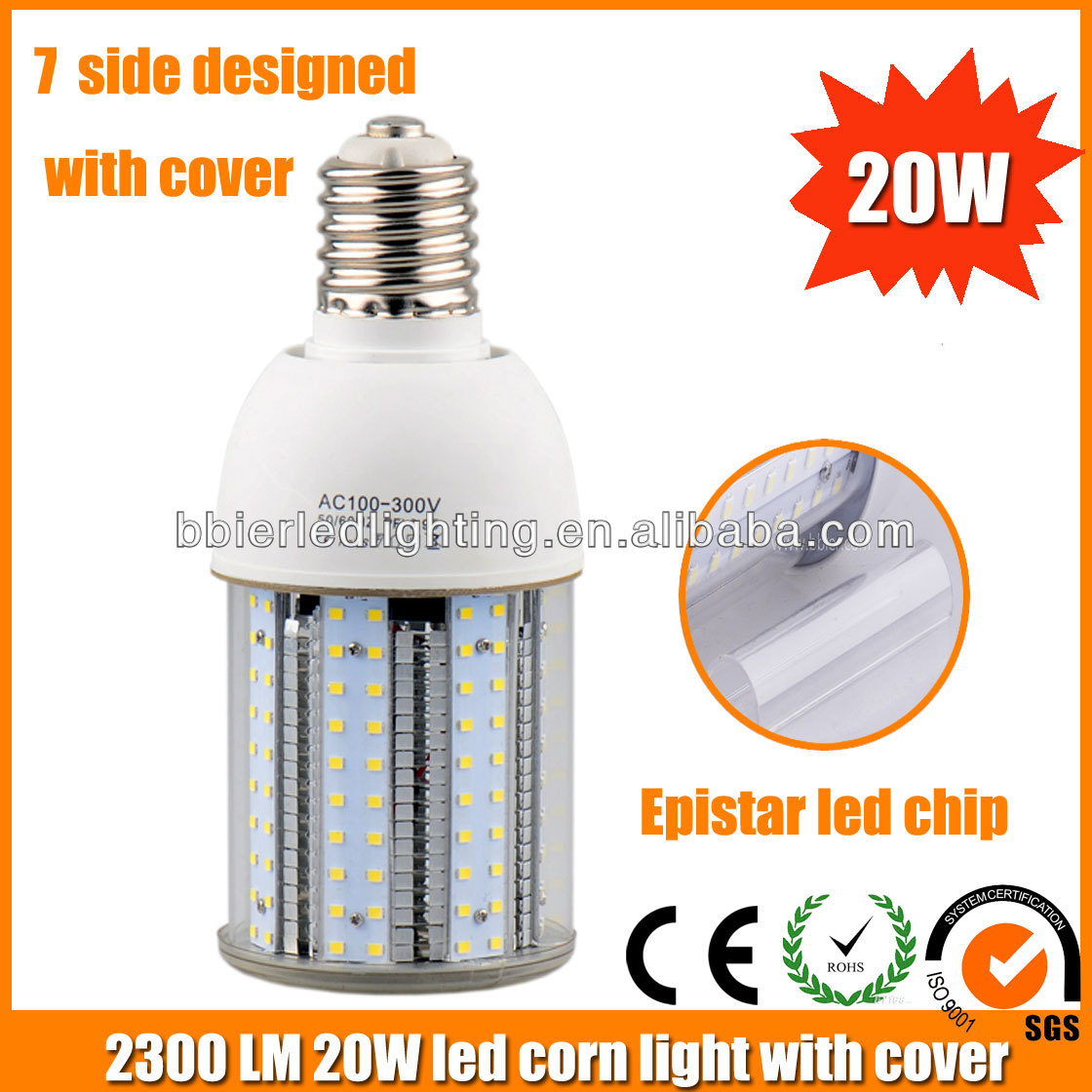 2014 china manufacturing price 7sides Epistar LED chip 20w led light bulbs made in usa