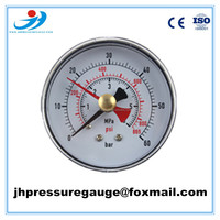 "2"" 50mm bottom type plastic case red pointer common pressure gauge"