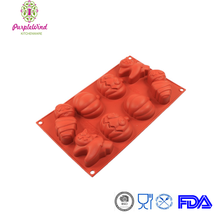 Halloween 8 cavity differents images Cat, Mommy, Pumpkin, Jack-lantern silicone cake mould/silicone bakeware