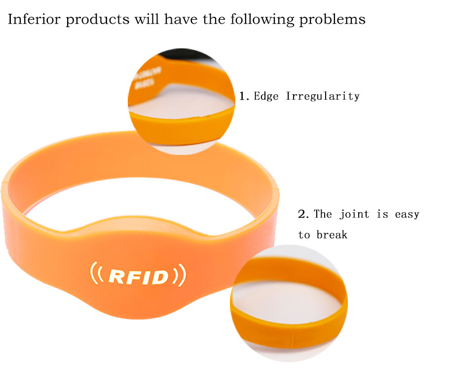 Up To 7m Passive UHF RFID Wristband Bracelet Ceramic Tag for Personal Access Control Tracking