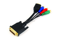 DVI24+1 male to HDMI and 3RCA female adapter