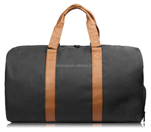 Classical Nylon Duffel Travel Bags with Shoe Compartment