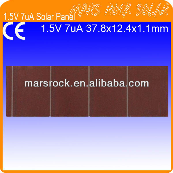 1.5V 7uA Dim Light Indoor a-Si Thin Film Solar Cell Panel