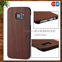 China manufacturer rose wood pc cell phone cover case for Samsung Galaxy s7 edge