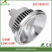 High Power Dimmable GU10 G53 led ar111 15w