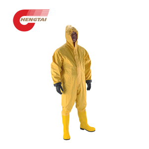 PVC Antivirus Anti Radiation Safety Chemical Protective Suit For Fireman