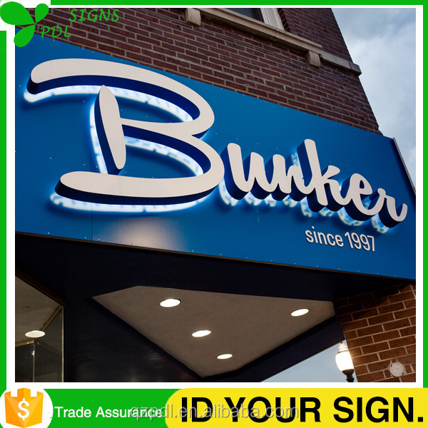 New!!! 3 Years Warranty 3D Acrylic Outdoor Building Signage with Wall Mounting