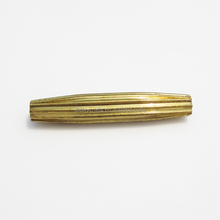 4mm x 22mm decorative raw brass Corrugated beads for bracelets
