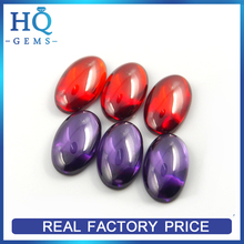 Beautiful oval shape flat back cabochon cut cubic zirconia best quality