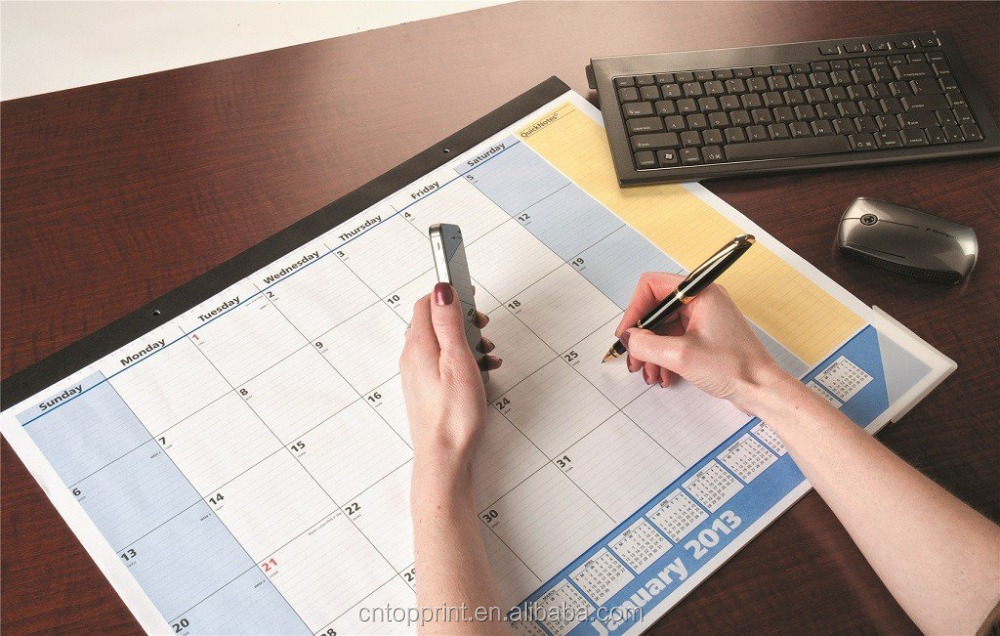 Creative Design Desk Pad Calendar for Office Daily Note