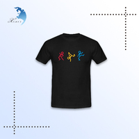 China manufacturer cheap promotional oem tshirt black