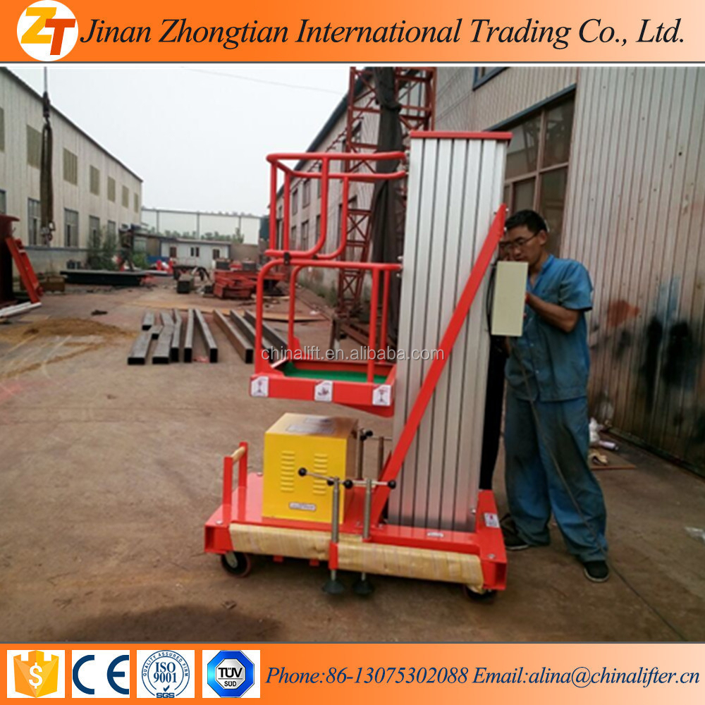 Aluminium single mast portable man lifts for sale