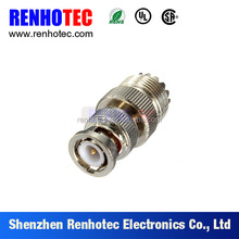 mini uhf female to bnc male connector adapter