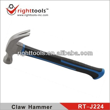 RIGHTTOOLS RT-J224 New process American type claw hammer with fibre handle