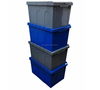 plastic logistic crate with hinged cover 600*400